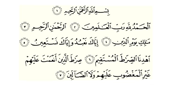 Keutamaan Surat Al Fatihah