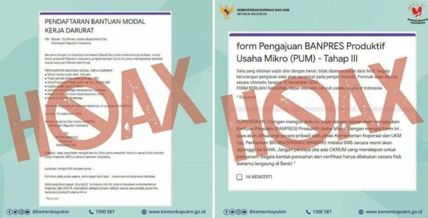 Formulir Online Bantuan UMKM Penipuan